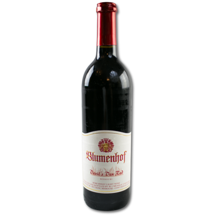 Devil's Den Red - Semi Sweet Red Wine at Blumenhof Winery