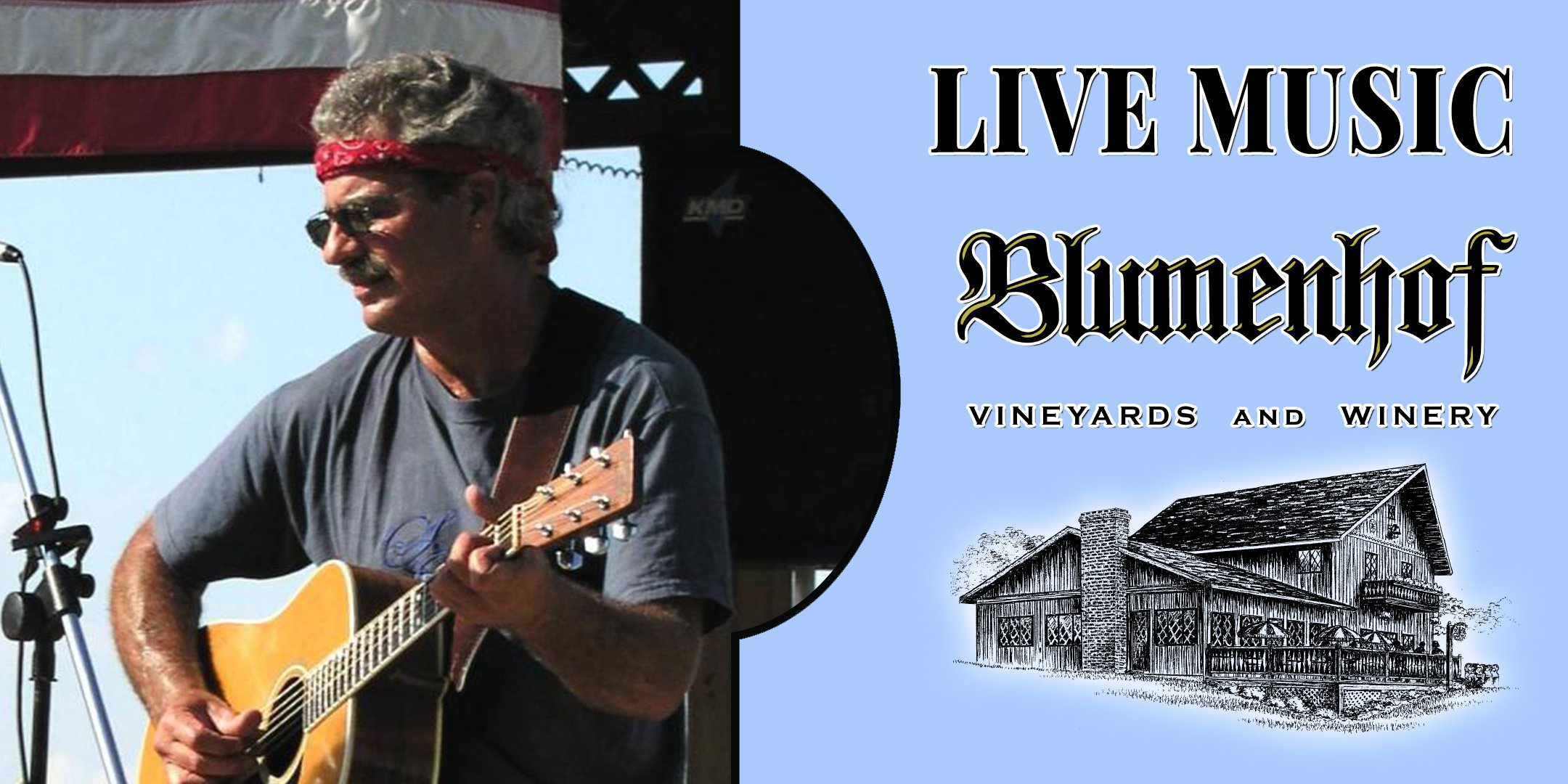 Rick Curtright (classic rock) at Blumenhof Winery